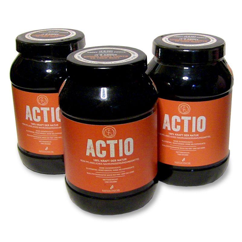 3 x Actio to detoxify